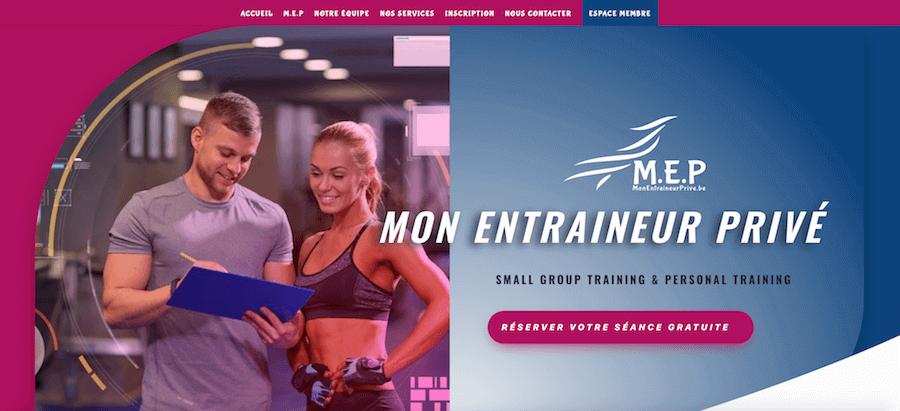 Aperçu site Mon Entraineur Privé (MEP)